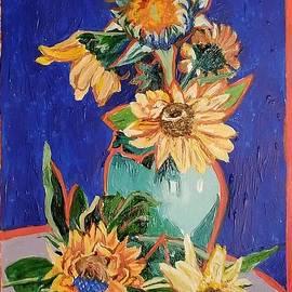 Six Sunflowers  by Lori Moon