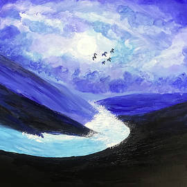 Skies of blue and clouds of white by Prachi S