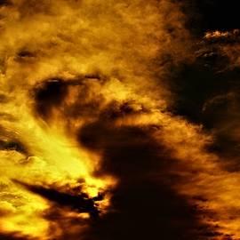 Sky Battle In Red by Adrienne Hantz Kelley