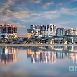 Skyline of Sarasota, Florida by Liesl Walsh