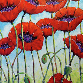 Skyward Poppies by Richard T Pranke