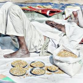 Sleeping Man in Delhi by Toni Abdnour