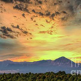 Sleeping Ute Mountain Summer Sunset by Janice Pariza
