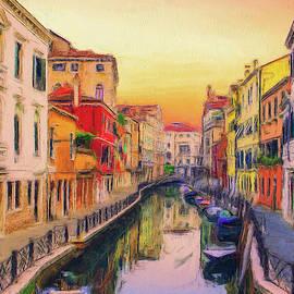 Sleepy canal Venice by Robert Deering