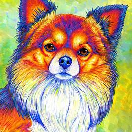 Small and Sassy - Colorful Rainbow Chihuahua Dog by Rebecca Wang