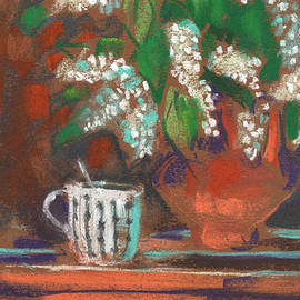 Small Still Life with Bird Cherry by Julia Khoroshikh
