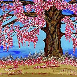 Smell The Cherry Blossoms Painting  by Jeffrey Koss