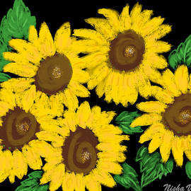 Smiling Sunflowers by Nishma Creations