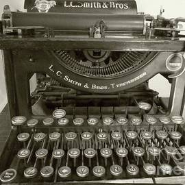 Smith Brothers Typewriter in Sepia by Barbie Corbett-Newmin