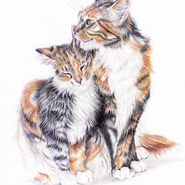 Smitten - Cats in Love by Debra Hall