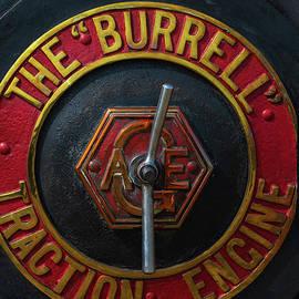 Smoke box door, restored 1921 Burrell steam road locomotive built in Thetford, Norfolk, England by Terence Kerr