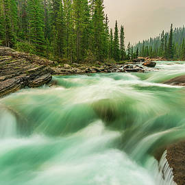 Smoky Canadian Rockies by Yves Gagnon
