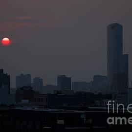 Smoky Sunset Philadelphia by Clay Cofer
