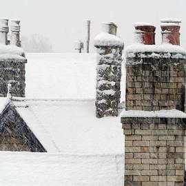 Snow Chimneys by Clive Beake