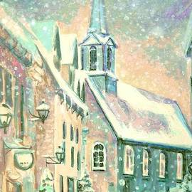 Snow on Place Royale by Louise Lavallee