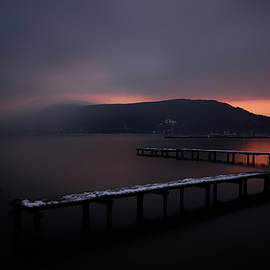 Snow on the Jetties, Lake Annecy by Imi Koetz