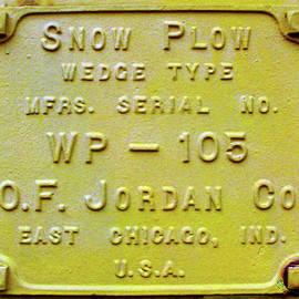 Snow Plow Builders Plate by Pat Turner