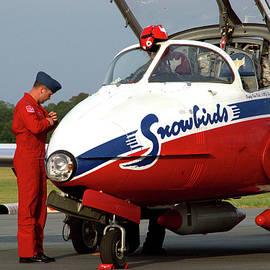 Snowbird pilot by Del Andrew