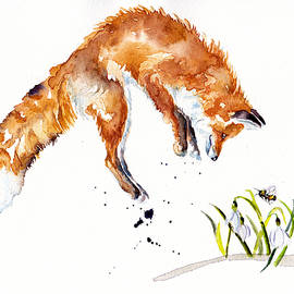 Snowdrop Fox by Debra Hall