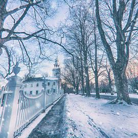 Snowfall in Bennington, Vermont by Joann Vitali