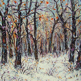 Snowing In The Forest by Natalie Holland