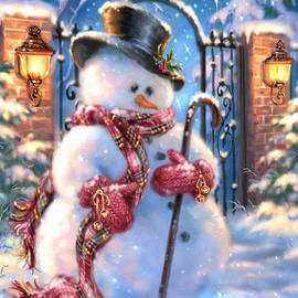 Snowman on Guard by Ann Marie Volpa