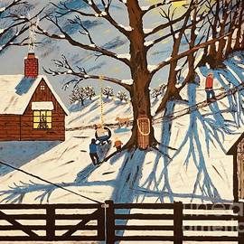 Snowy Country Christmas by Jeffrey Koss