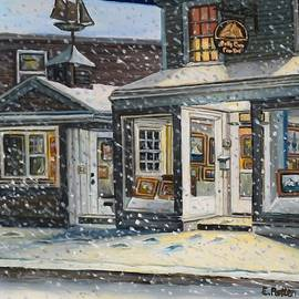 Snowy Evening At The Gallery by Eileen Patten Oliver