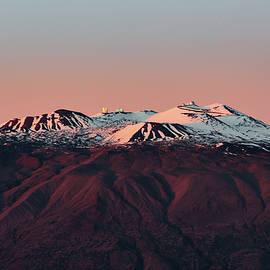 Snowy Mauna Kea Sunset by Jason Chu
