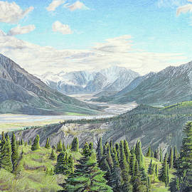 Snowy Mountains by Paramjeet Kaur