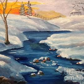 Snowy Stream by Lee Piper