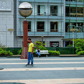 Social Distancing at Union Square by Bonnie Follett