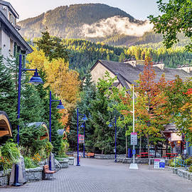 Social distancing in Whistler Village in the Fall by Pierre Leclerc Photography