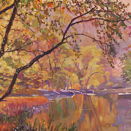 Soft Light On The Stream by David Lloyd Glover