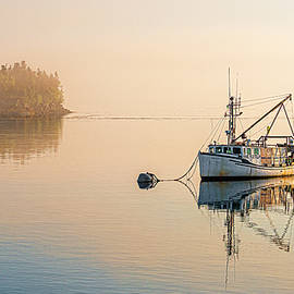 Soft Morning Light At Lubec by Marty Saccone