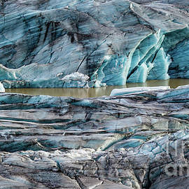 Solheimajokull outlet glacier, Iceland by Lyl Dil Creations