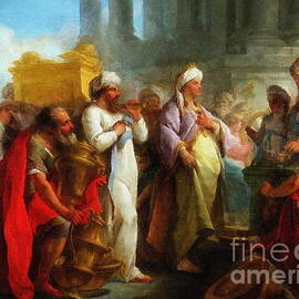 Solomon Before The Ark Of The Covenant by Jerzy Czyz