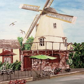 Solvang Painting by Irving Starr