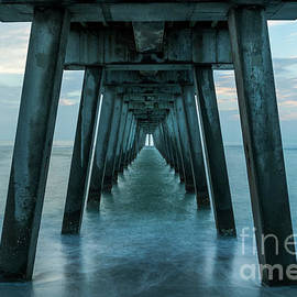 Soothing Blue Under the Venice Fishing Pier, FL by Liesl Walsh