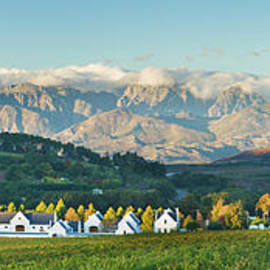 South Africa winelands Panoramic by Justin Foulkes