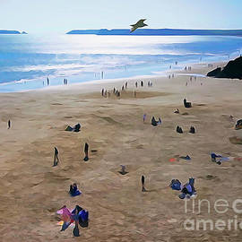 South Beach Blues, Tenby by Mark Haynes