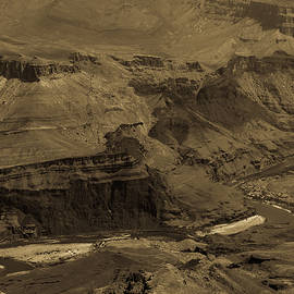 South Rim Grand Canyon 23 Antiqued by Renny Spencer