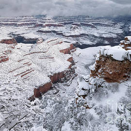 South Rim of Grand Canyon National Park after Winter Snowstorm by Tom Schwabel