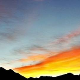 Southwest Desert Mountain Sunrise by Barbara Chichester