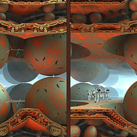 Space Home Base - 3D Stereo Xview by Brian Wallace