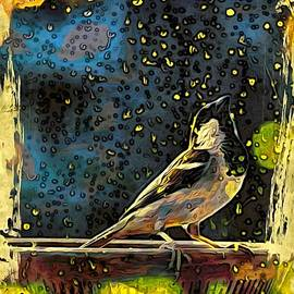 Sparrow in rain  by Bliss Of Art