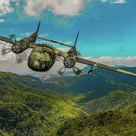 Special Ops Cloud over Vietnam - Art by Tommy Anderson