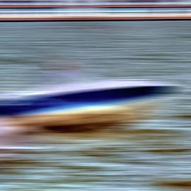 Speedboat on the Hudson by Geraldine Scull
