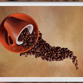 Spill The Coffee Beans Framed by Judy Vincent