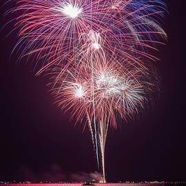 Spirit Lake Iowa Fireworks by Ben Ford